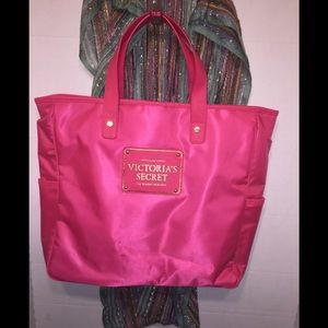 Victoria's Secret's Pink Polyester Tote Bag
